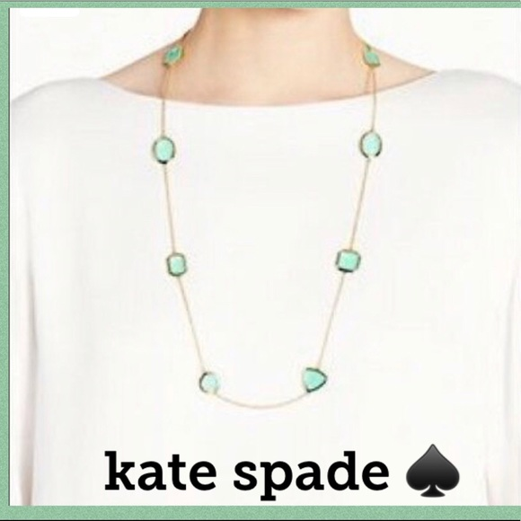 kate spade Jewelry - ♠️ Kate Spade Vegas Jewels NECKLACE GREEN GIVERNY